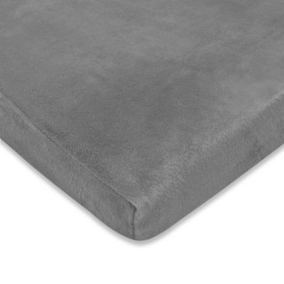 Heavenly Soft Chenille Fitted Crib and Toddler Sheet - Steel Gray