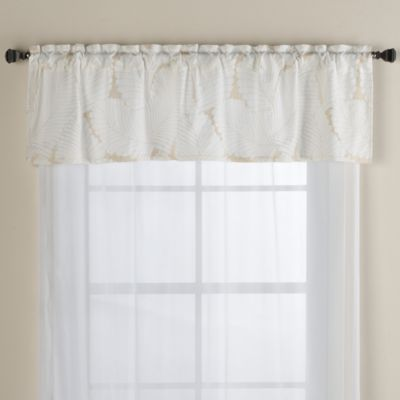 Island Leaves Window Valance
