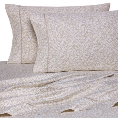 Wamsutta® 400 Thread Count Vine Printed California King Sheet Set in Taupe