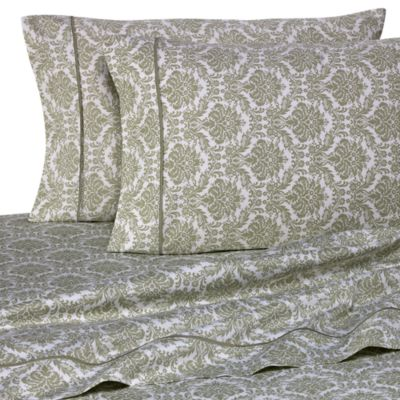 Sage Jacquard Printed Pillowcases