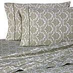 Wamsutta® 400 Thread Count Jacquard Printed Queen Sheet Set in Sage