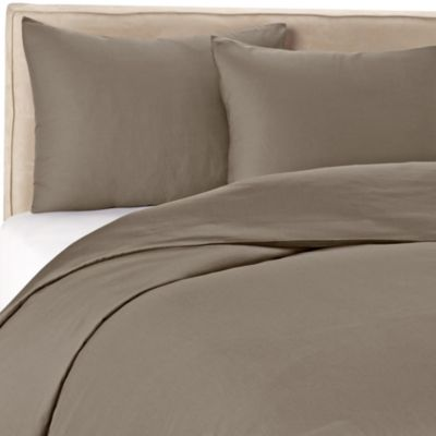 Wamsutta® 400 Twin Duvet Cover Set in Grey