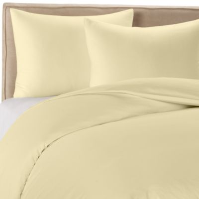 Wamsutta® 400 Duvet King Cover Set in Butter Yellow