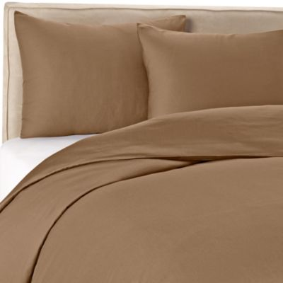 Wamsutta® 400 Twin Duvet Cover Set in Canvas