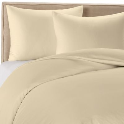 Wamsutta® 400-Thread-Count Solid Twin Duvet Cover Set in Oyster