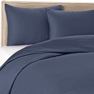 Wamsutta® 400 Twin Duvet Cover Set in Blue Jean