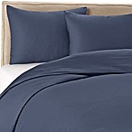 Wamsutta® 400-Thread-Count Solid King Duvet Cover Set in Blue Jean