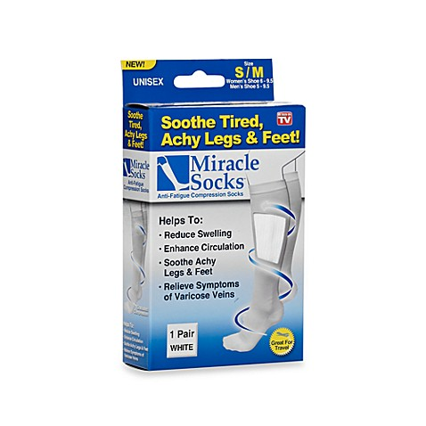 Miracle Socks White Anti-Fatigue Compression Socks