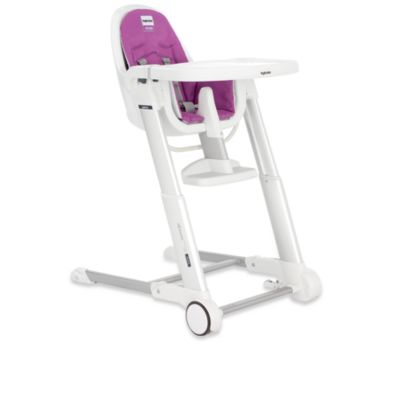 Inglesina® Zuma White High Chair in Fuschia