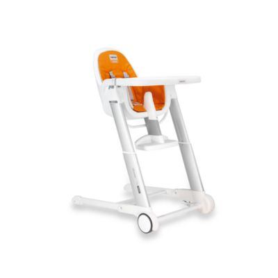 Inglesina® Zuma White High Chair in Orange