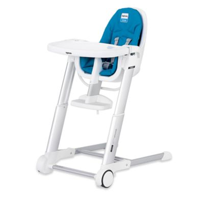 Inglesina® Zuma White High Chair in Light Blue