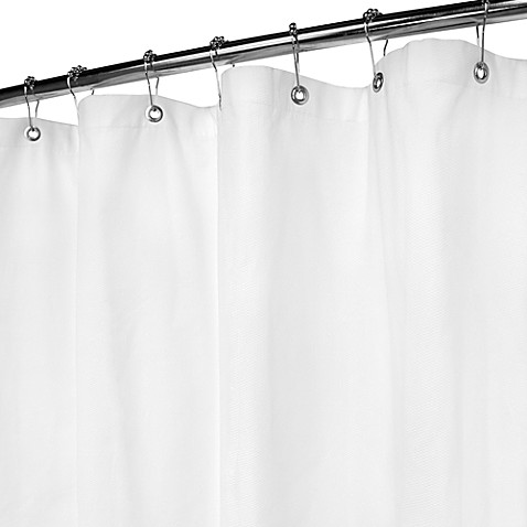 Park B. Smith White Bamboo Pique Shower Curtain
