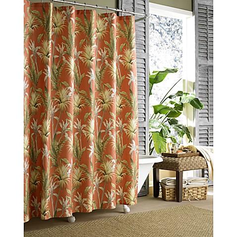 Tommy Bahama Catalina Shower Curtain Orange Shower Curtain