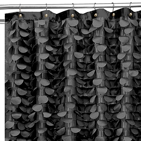 Gigi 72-Inch x 72-Inch Shower Curtain in Black