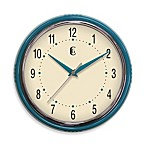Geneva Retro Plastic Diner Clock in Teal