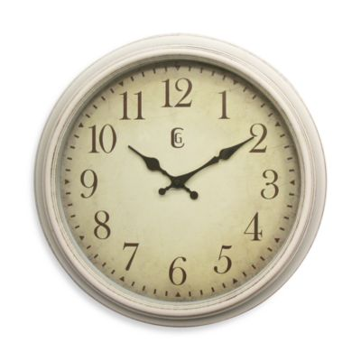 Geneva Antique White Wall Clock