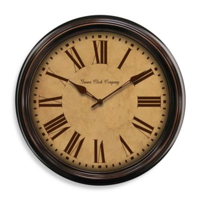 Geneva Oil Rubbed Bronze Metal Wall Clock