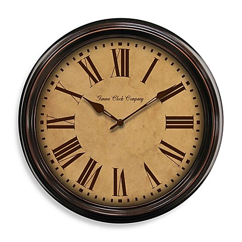 Geneva Oil Rubbed Bronze Metal Wall Clock Bed Bath Amp Beyond
