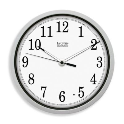 La Crosse® White Frame Clock