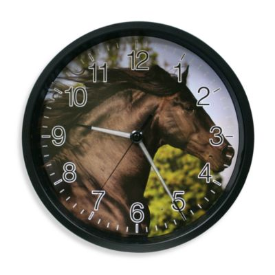 La Crosse® Illuminations Horse Clock