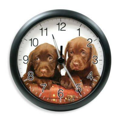 La Crosse® Illuminations Puppy Clock