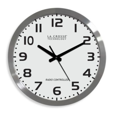 Brushed Aluminum Wall Clock