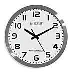 16-Inch Atomic Wall Clock with White Dial