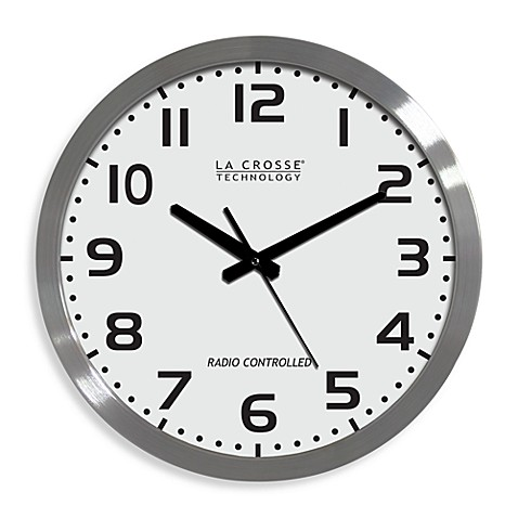 La Crosse Technology 16-Inch Atomic Wall Clock with White ...