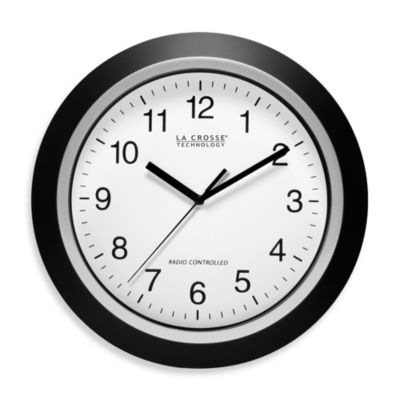La Crosse Technology 13.5-Inch Atomic Wall Clock with Black Frame