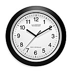 La Crosse® 12-Inch Atomic Wall Clock with Black Frame