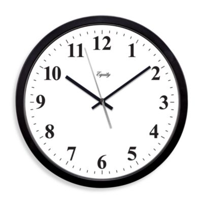 La Crosse® 14-Inch Atomic Black Chapter Ring Design Clock