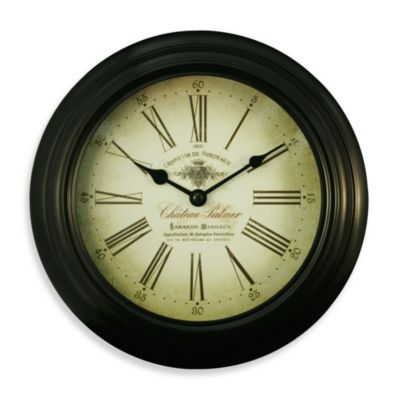 La Crosse Technology Black Metal Analog Clock with Antique Dial