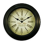 La Crosse® Black Metal Analog Clock with Antique Dial