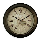 La Crosse® Brown Metal Analog Clock with Antique Dial