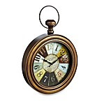 Bronze Pocket Watch Wall Clock with Color Wheel Dial