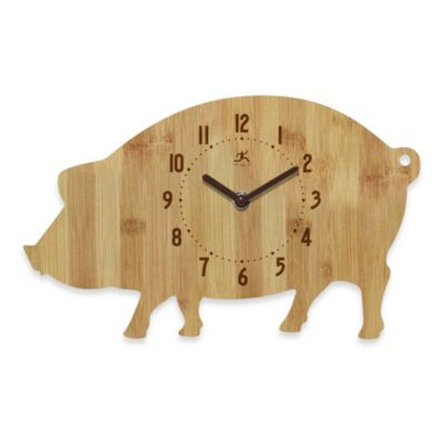 Infinity Instruments Pork Chop Wall Clock