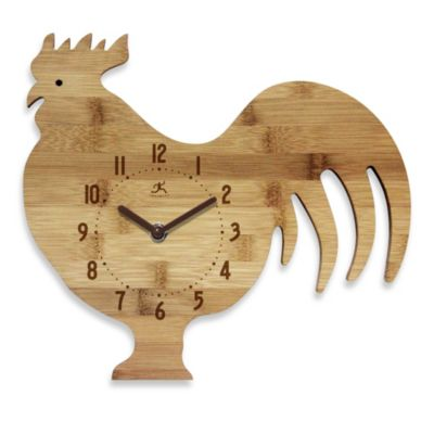 Infinity Instruments Roost & Serve Bamboo Walk Clock