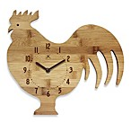 Roost & Serve Bamboo Walk Clock