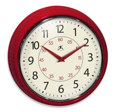 Infinity Instruments Retro Redux Red Wall Clock
