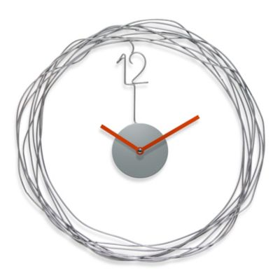 Wire Transfer Metal Wall Clock
