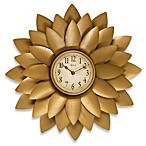 Midas Gold Flower Wall Clock