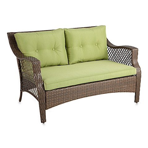 Stratford Wicker Deep Seating Outdoor Loveseat