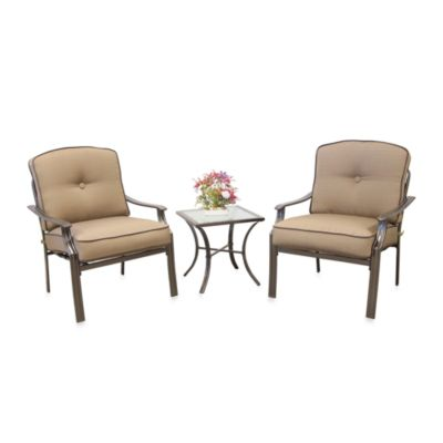 3-Piece Deep Seating Set in Tan