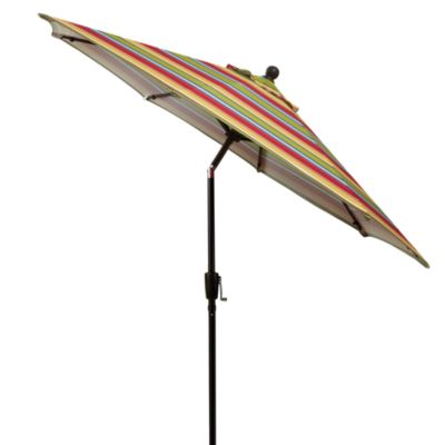 9-Foot Round Aluminum Umbrella in Stripe