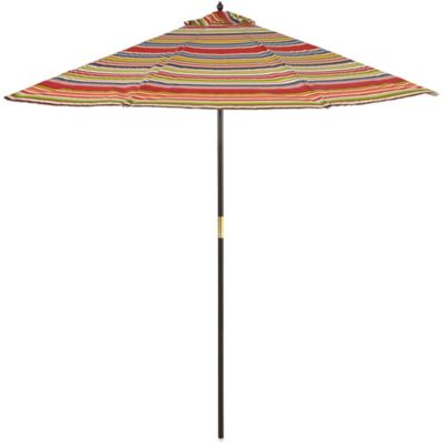 9-Foot Round Hardwood Umbrella in Stripe