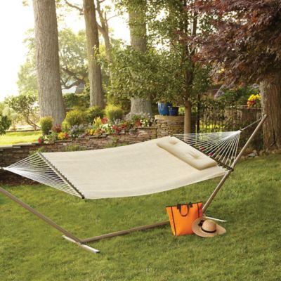 Woven Hammock with Pillow in Natural