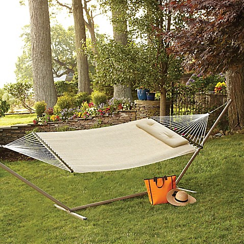 Woven Hammock With Pillow In Natural Bed Bath Amp Beyond