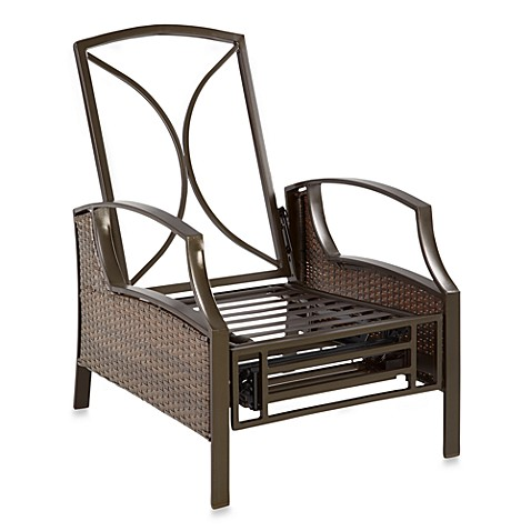 Wicker Deep Seating Outdoor Recliner Frame in Bronze