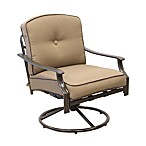 Tan Swivel Rocking Chair
