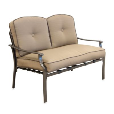 Tan Deep Loveseat